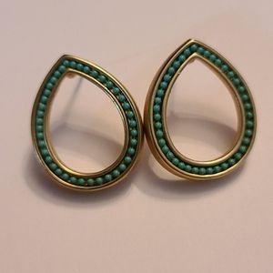 Earrings: Vermeil and Turquoise Teardrop Posts
